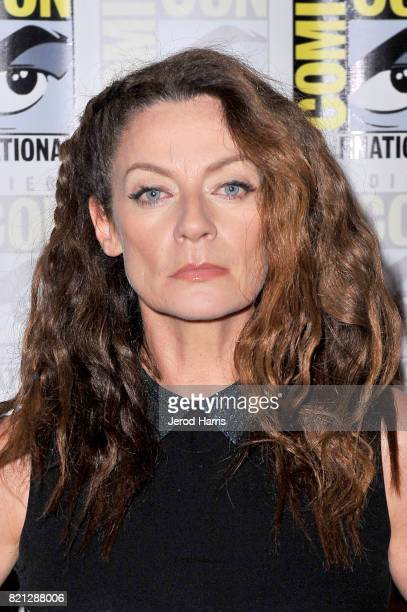 Actor Michelle Gomez at BBC AMERICA'S San Diego ComicCon Press Line with the Stars and Producers of 'Dirk Gently's Holistic Detective Agency' and...