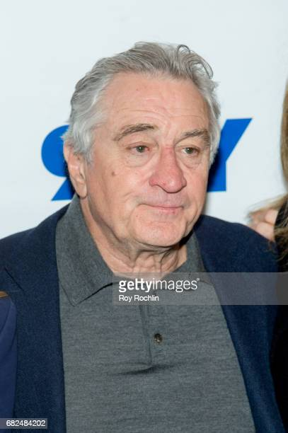 Actor Michelle Pfeiffer and Robert De Niro attends 92Y Presents 'The Wizard Of Lies' on May 12 2017 in New York City