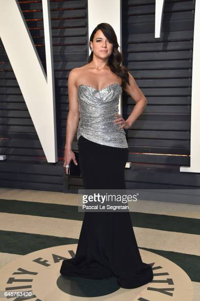 Actor Michelle Rodriguez attends the 2017 Vanity Fair Oscar Party hosted by Graydon Carter at Wallis Annenberg Center for the Performing Arts on...