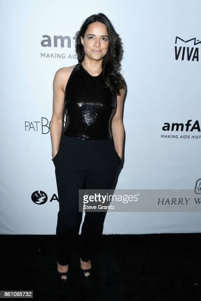 Actor Michelle Rodriguez attends the amfAR Gala 2017 at Ron Burkle's Green Acres Estate on October 13 2017 in Beverly Hills California