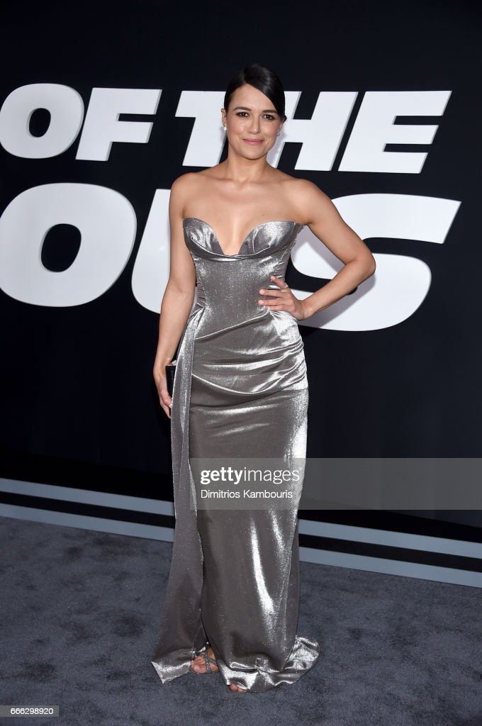 Actor Michelle Rodriguez attends 'The Fate Of The Furious' New York Premiere at Radio City Music Hall on April 8, 2017 in New York City.