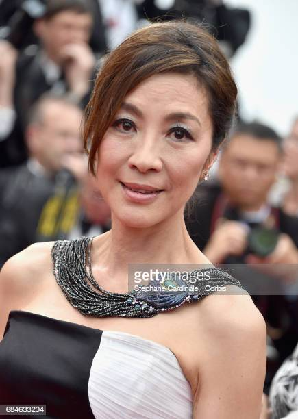 Actor Michelle Yeoh attends the 'Loveless ' premiere during the 70th annual Cannes Film Festival at Palais des Festivals on May 18 2017 in Cannes...