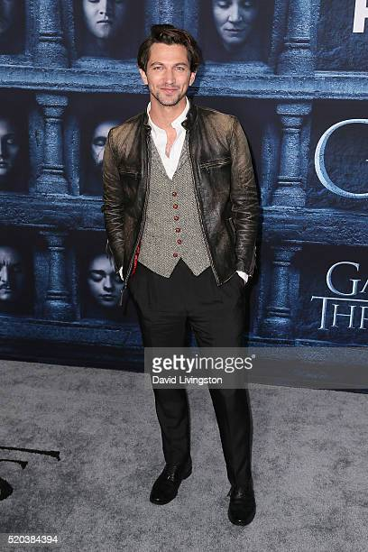 Actor Michiel Huisman arrives at the premiere of HBO's 'Game of Thrones' Season 6 at the TCL Chinese Theatre on April 10 2016 in Hollywood California