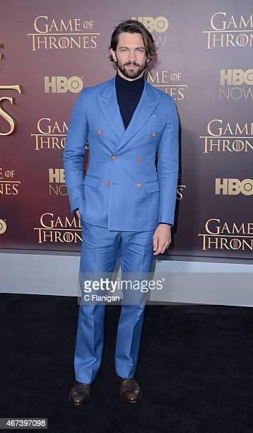 Actor Michiel Huisman attends HBO's 'Game of Thrones' Season 5 Premiere and After Party at the San Francisco Opera House on March 23 2015 in San...