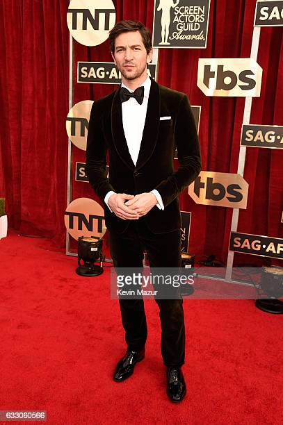 Actor Michiel Huisman attends The 23rd Annual Screen Actors Guild Awards at The Shrine Auditorium on January 29 2017 in Los Angeles California...