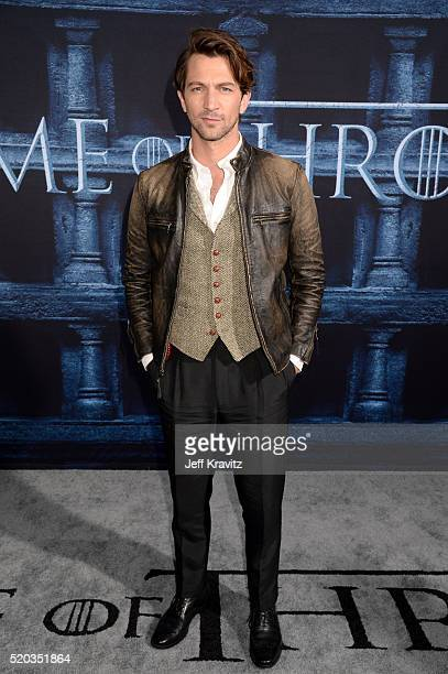 Actor Michiel Huisman attends the premiere for the sixth season of HBO's 'Game Of Thrones' at TCL Chinese Theatre on April 10 2016 in Hollywood City