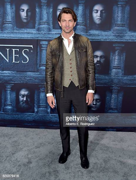 Actor Michiel Huisman attends the premiere of HBO's 'Game Of Thrones' Season 6 at TCL Chinese Theatre on April 10 2016 in Hollywood California