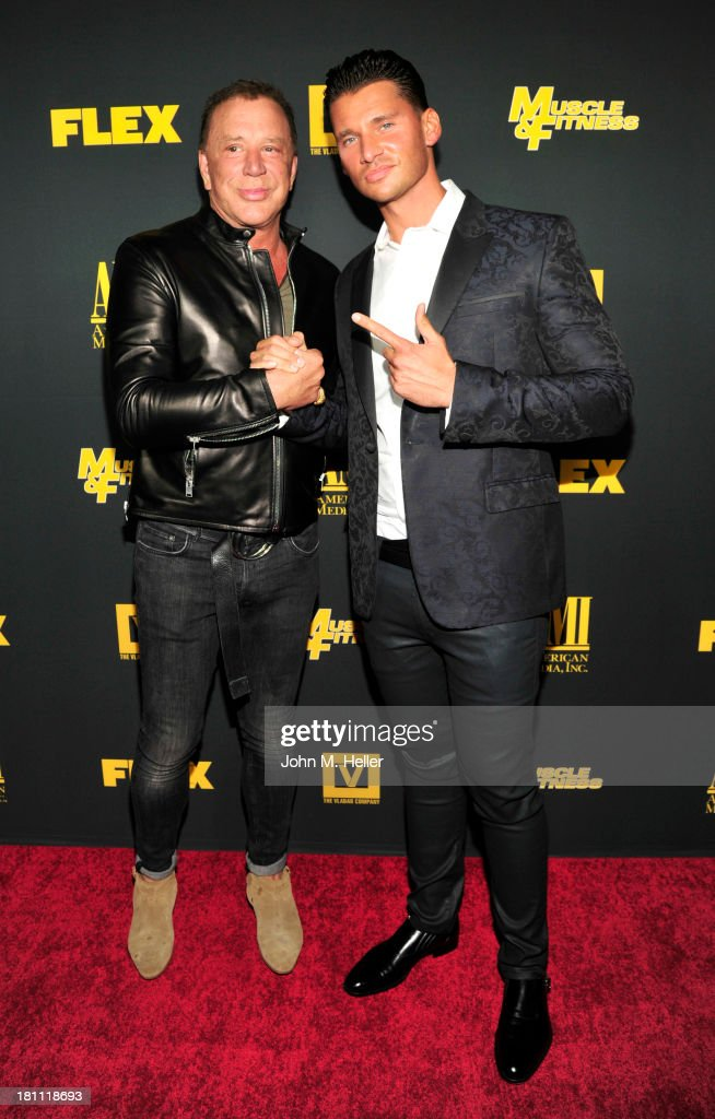 Actor <a gi-track='captionPersonalityLinkClicked' href=/galleries/search?phrase=Mickey+Rourke+-+Actor&family=editorial&specificpeople=208916 ng-click='$event.stopPropagation()'>Mickey Rourke</a> and <a gi-track='captionPersonalityLinkClicked' href=/galleries/search?phrase=Vlad+Yudin&family=editorial&specificpeople=5451307 ng-click='$event.stopPropagation()'>Vlad Yudin</a> attend the Los Angeles premiere of 'Generation Iron' at the Chinese 6 Theatres in Hollywood on September 18, 2013 in Hollywood, California.