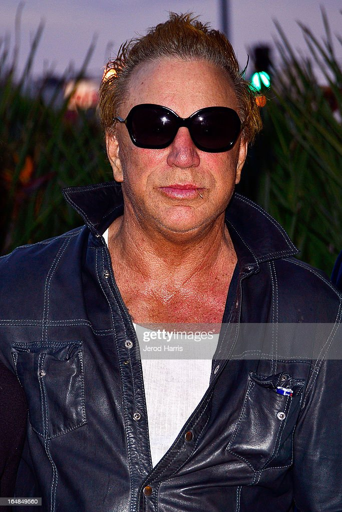 Actor <a gi-track='captionPersonalityLinkClicked' href=/galleries/search?phrase=Mickey+Rourke+-+Actor&family=editorial&specificpeople=208916 ng-click='$event.stopPropagation()'>Mickey Rourke</a> arrives at the Los Angeles premiere of 'The Good Son' at Linwood Dunn Theater at the Pickford Center for Motion Study on March 28, 2013 in Hollywood, California.