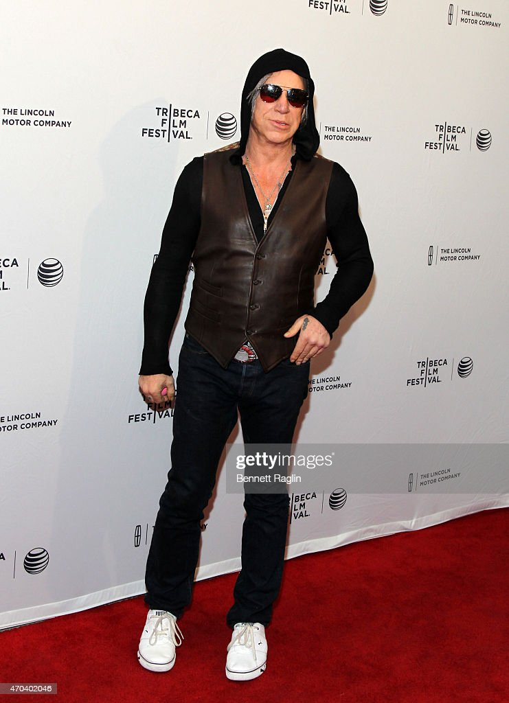 Actor <a gi-track='captionPersonalityLinkClicked' href=/galleries/search?phrase=Mickey+Rourke+-+Actor&family=editorial&specificpeople=208916 ng-click='$event.stopPropagation()'>Mickey Rourke</a> attends 2015 Tribeca Film Festival - World Premiere Narrative: 'Ashby' at SVA Theatre 1 on April 19, 2015 in New York City.