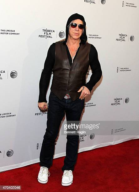 Actor Mickey Rourke attends 2015 Tribeca Film Festival World Premiere Narrative 'Ashby' at SVA Theatre 1 on April 19 2015 in New York City