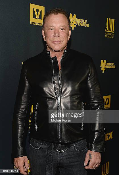 Actor Mickey Rourke attends the Los Angeles Premiere Of 'GENERATION IRON' From The Producer Of Pumping Iron at Chinese 6 Theater Hollywood on...