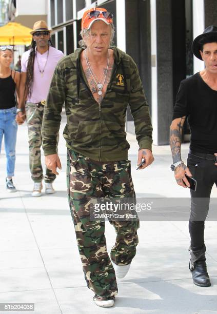 Actor Mickey Rourke is seen on July 15 2017 in Los Angeles California