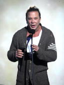 Actor Mickey Rourke speaks onstage at Spike TV's 'Scream 2010' at The Greek Theatre on October 16 2010 in Los Angeles California