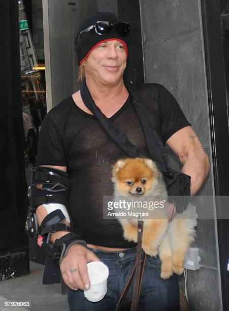 Actor Mickey Rourke walks in the city on March 21 2010 in New York City