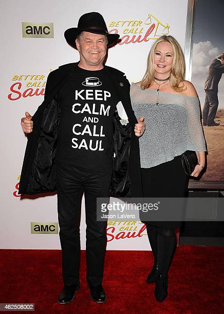 Actor Micky Dolenz and wife Donna Quinter attend the premiere of 'Better Call Saul' at Regal Cinemas LA Live on January 29 2015 in Los Angeles...