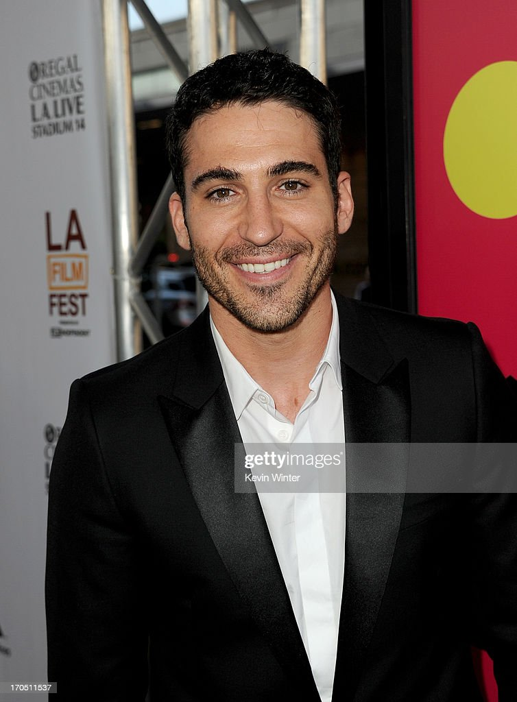 Actor Miguel Angel Silvestre arrives at the premiere of Sony Pictures Classics 'I'm So Excited' during the 2013 Los Angeles Film Festival at Regal...