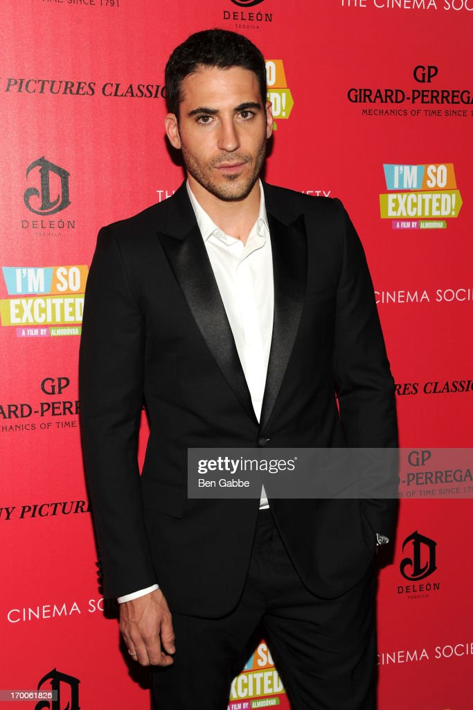 Actor <a gi-track='captionPersonalityLinkClicked' href=/galleries/search?phrase=Miguel+Angel+Silvestre&family=editorial&specificpeople=4001600 ng-click='$event.stopPropagation()'>Miguel Angel Silvestre</a> attends a screening of Sony Pictures Classics' 'I'm So Excited' hosted by Girard-Perregaux and The Cinema Society with DeLeon at Sunshine Landmark on June 6, 2013 in New York City.