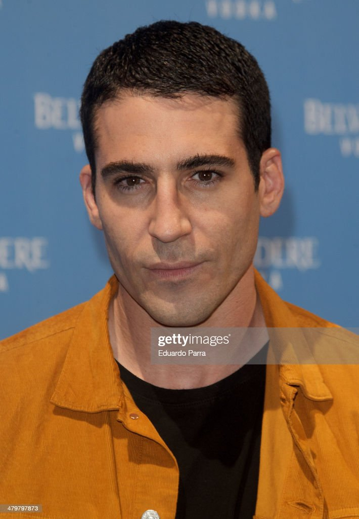 Actor Miguel Angel Silvestre attends Belvedere Vodka party photocall at Principe Pio train station on March 20, 2014 in Madrid, Spain.