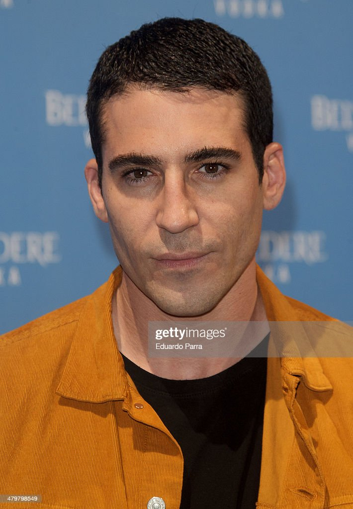 Actor <a gi-track='captionPersonalityLinkClicked' href=/galleries/search?phrase=Miguel+Angel+Silvestre&family=editorial&specificpeople=4001600 ng-click='$event.stopPropagation()'>Miguel Angel Silvestre</a> attends Belvedere Vodka party photocall at Principe Pio train station on March 20, 2014 in Madrid, Spain.