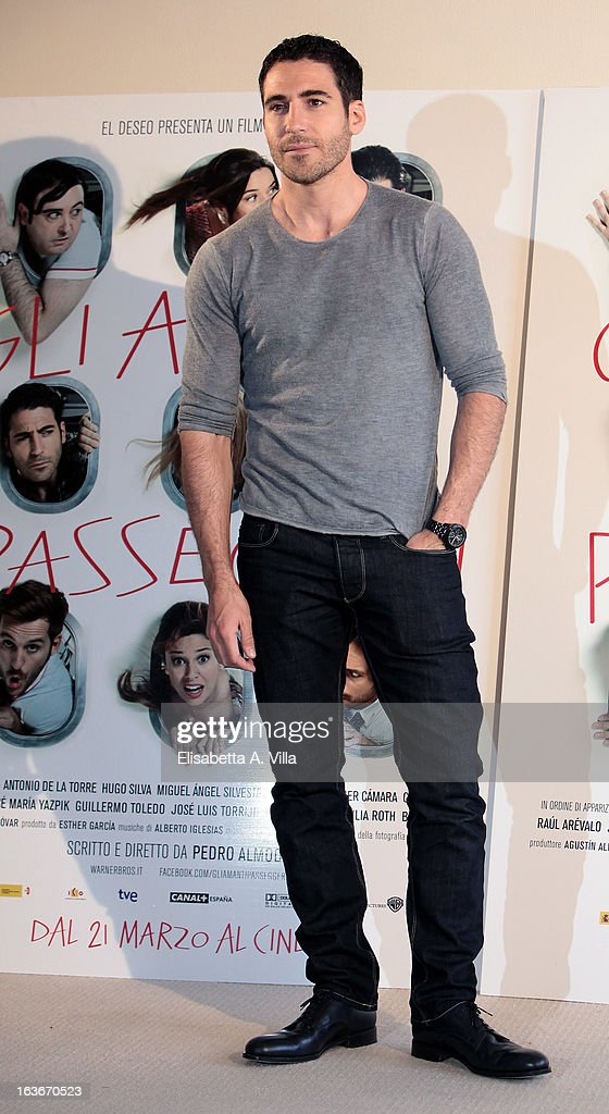 Actor Miguel Angel Silvestre attends 'Los Amantes Pasajeros' (Gli Amanti Passeggeri) photocall at Residence Ripetta on March 14, 2013 in Rome, Italy.