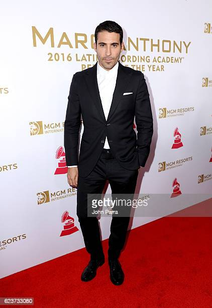 Actor Miguel Angel Silvestre attends the 2016 Person of the Year honoring Marc Anthony at the MGM Grand Garden Arena on November 16 2016 in Las Vegas...