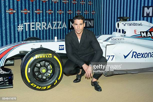 Actor Miguel Angel Silvestre attends the Martini Terrace party at Madrid Citi Hall on May 26 2016 in Madrid Spain