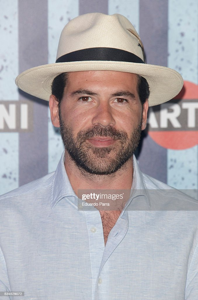 Actor Miguel Carrizo attends the Martini Terrace party at Madrid Citi Hall on May 26, 2016 in Madrid, Spain.
