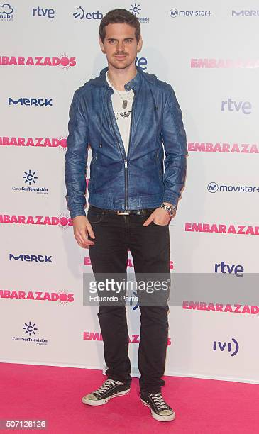 Actor Miguel Diosdado attends 'Embarazados' premiere at Capitol cinema on January 27 2016 in Madrid Spain