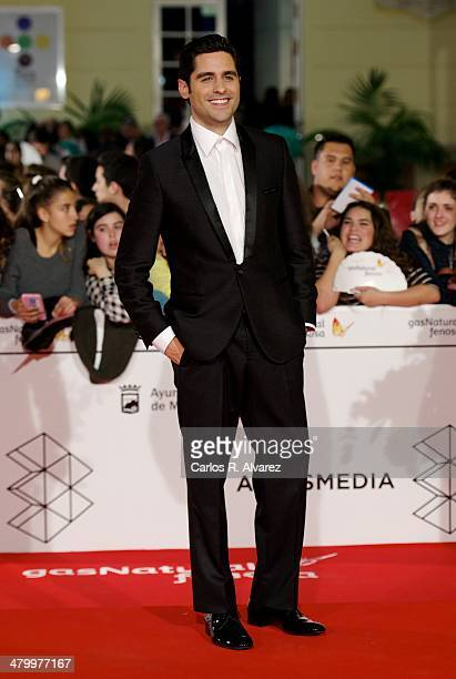 Actor Miguel Diosdado attends the 17th Malaga Film Festival 2014 opening ceremony at the Cervantes Theater on March 21 2014 in Malaga Spain