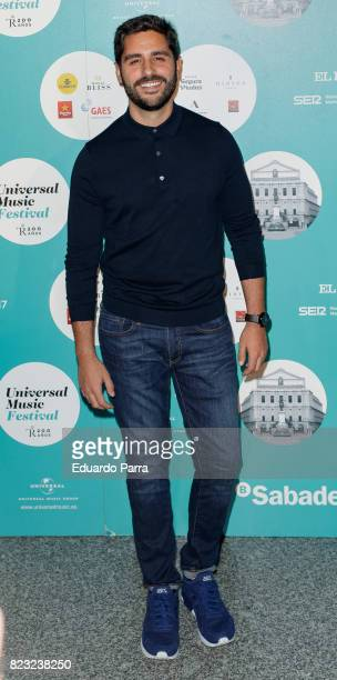 Actor Miguel Diosdado attends the David Bisbal concert photocall at Royal Theatre on July 26 2017 in Madrid Spain