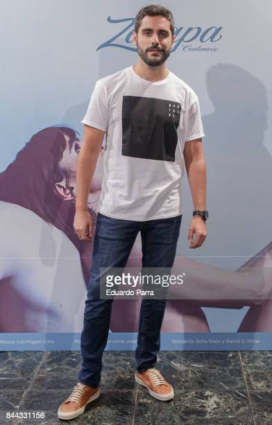 Actor Miguel Diosdado attends the 'El Amante' photocall at Kamikaze theatre on September 8 2017 in Madrid Spain