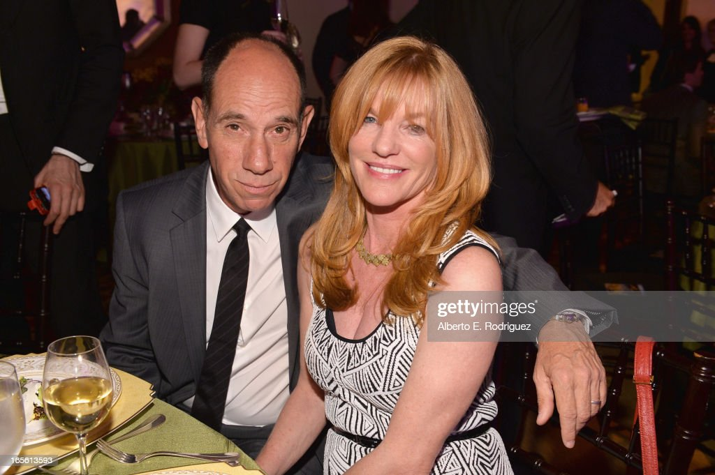 Actor <a gi-track='captionPersonalityLinkClicked' href=/galleries/search?phrase=Miguel+Ferrer&family=editorial&specificpeople=225011 ng-click='$event.stopPropagation()'>Miguel Ferrer</a> and producer Lori Weintraub attend Conservation International's 17th Annual Los Angeles Dinner at Montage Beverly Hills on April 4, 2013 in Beverly Hills, California.