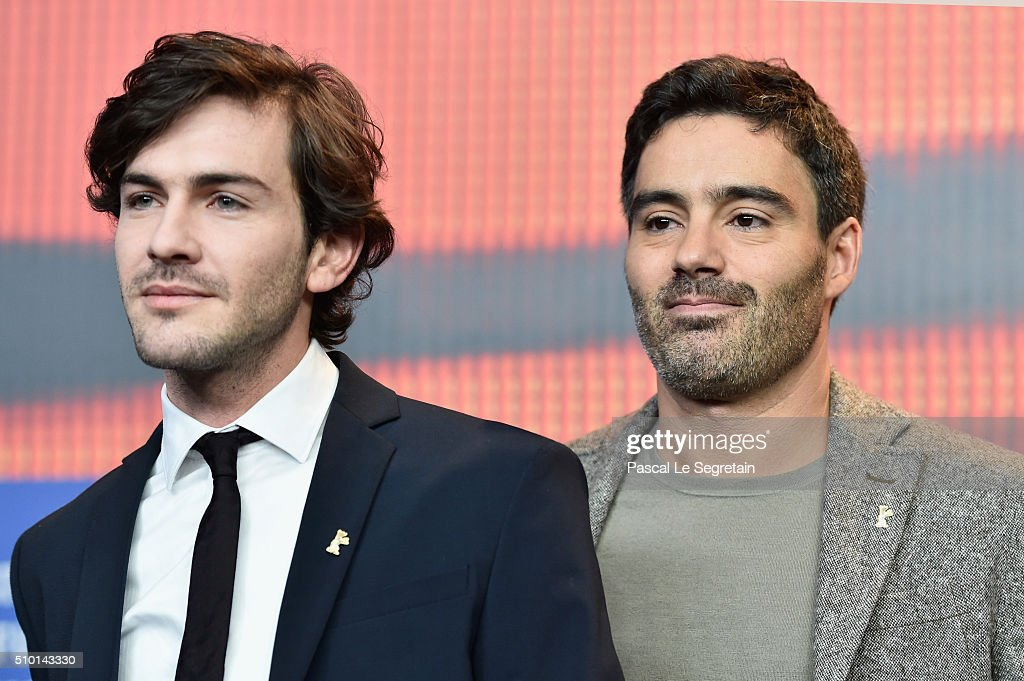 Actors <a gi-track='captionPersonalityLinkClicked' href=/galleries/search?phrase=Miguel+Nunes&family=editorial&specificpeople=3670164 ng-click='$event.stopPropagation()'>Miguel Nunes</a> (L) and Ricardo Pereira are seen at the 'Letters from War' (Cartas da guerra) press conference during the 66th Berlinale International Film Festival Berlin at Grand Hyatt Hotel on February 14, 2016 in Berlin, Germany.