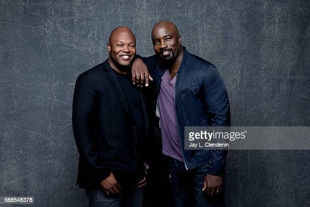 Actor Mike Colter and Cheo Hodari Coker of 'Luke Cage' are photographed for Los Angeles Times at San Diego Comic Con on July 22 2016 in San Diego...
