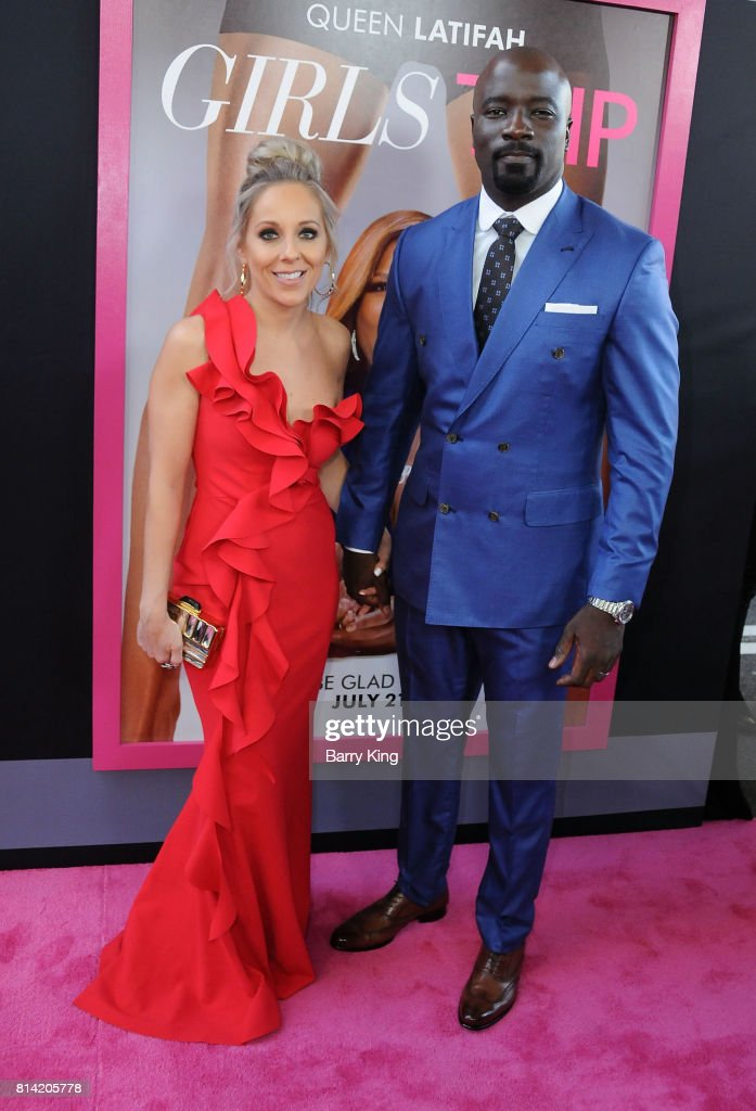 Actor Mike Colter (R) and Iva Colter (L) attend the Premiere of Universal Pictures' 'Girls Trip' at Regal LA Live Stadium 14 on July 13, 2017 in Los Angeles, California.