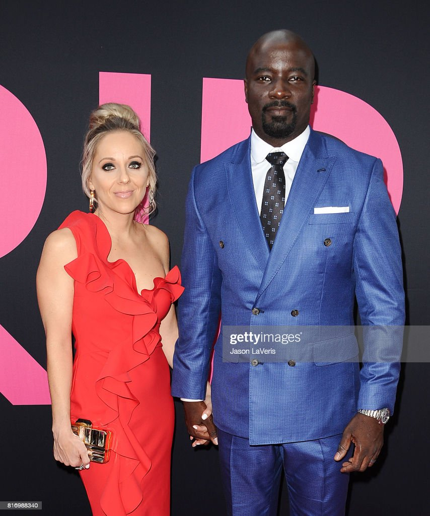 Actor Mike Colter and wife Iva Colter attend the premiere of 'Girls Trip' at Regal LA Live Stadium 14 on July 13, 2017 in Los Angeles, California.