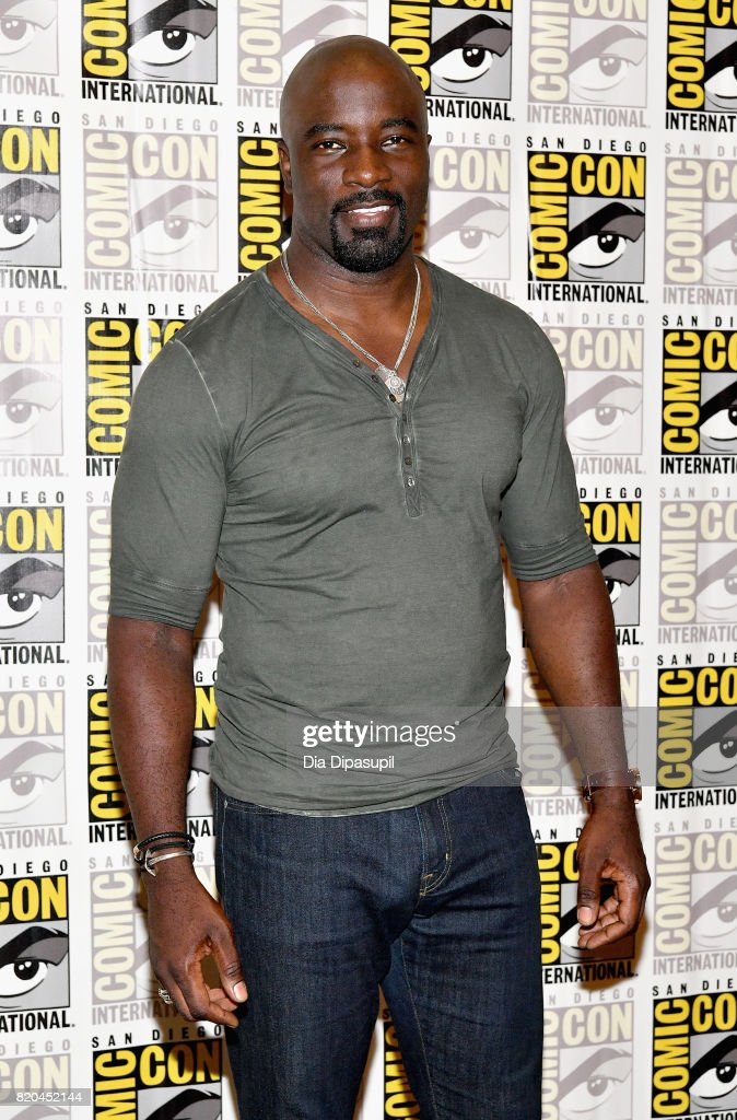 Actor Mike Colter at Marvel's 'The Defenders' Press Line during Comic-Con International 2017 at Hilton Bayfront on July 21, 2017 in San Diego, California.