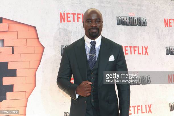 Actor Mike Colter attends 'Marvel's The Defenders' New York premiere at Tribeca Performing Arts Center on July 31 2017 in New York City