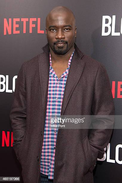 Actor Mike Colter attends the 'Bloodline' New York Series Premiere at SVA Theater on March 3 2015 in New York City