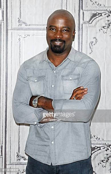 Actor Mike Colter attends the BUILD Speaker Series Presents Mike Colter discussing 'Luke Cage' at AOL HQ on September 29 2016 in New York City