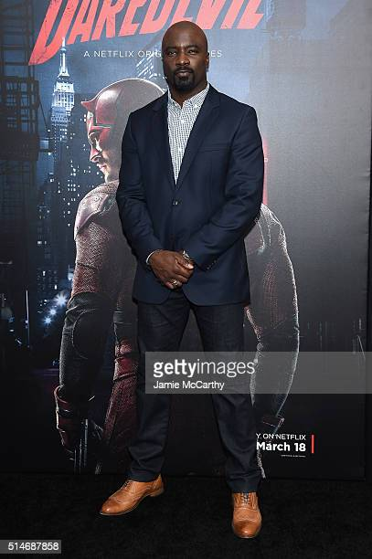 Actor Mike Colter attends the 'Daredevil' Season 2 Premiere at AMC Loews Lincoln Square 13 theater on March 10 2016 in New York City