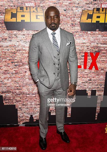 Actor Mike Colter attends the 'Luke Cage' New York premiere at AMC Magic Johnson Harlem on September 28 2016 in New York City