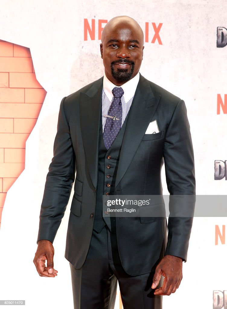 Actor Mike Colter attends the 'Marvel's The Defenders' New York premiere at Tribeca Performing Arts Center on July 31, 2017 in New York City.