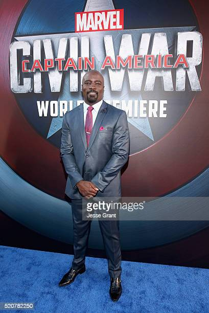 Actor Mike Colter attends The World Premiere of Marvel's 'Captain America Civil War' at Dolby Theatre on April 12 2016 in Los Angeles California