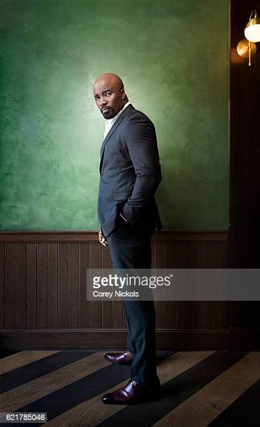 Actor Mike Colter is photographed for New York Observer on August 6 2016 in Los Angeles California