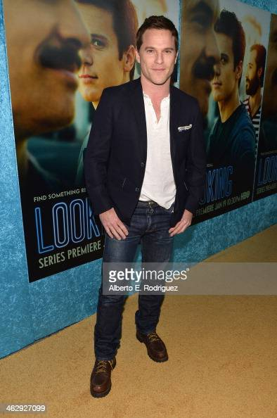 Actor Mike Doyle arrives to the premiere of HBO's 'Looking' at Paramount Theater on the Paramount Studios lot on January 15 2014 in Hollywood...
