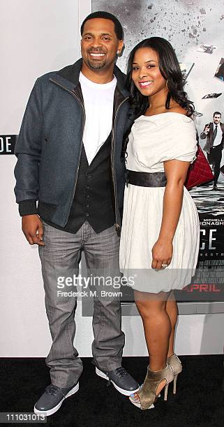 Actor Mike Epps and his wife Mechelle Epps attend the premiere of Summit Entertainment's 'Source Code' at the Arclight Cinerama Dome on March 28 2011...