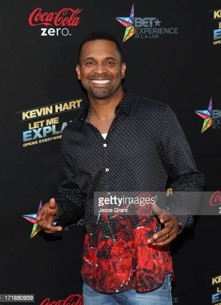 Actor Mike Epps attends Movie Premiere 'Let Me Explain' with Kevin Hart during the 2013 BET Experience at Regal Cinemas LA Live on June 27 2013 in...