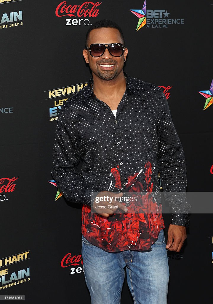 Actor Mike Epps attends Movie Premiere 'Let Me Explain' with Kevin Hart during the 2013 BET Experience at Regal Cinemas L.A. Live on June 27, 2013 in Los Angeles, California.
